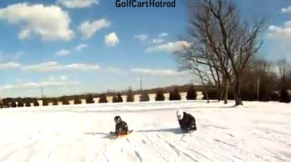 Golf cart sledding