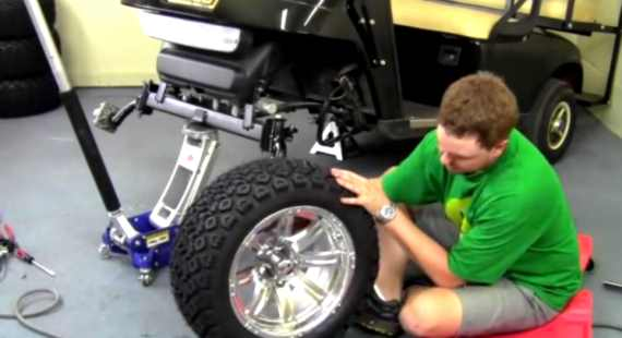 EZGO TXT Spindle Lift Kit Install Video