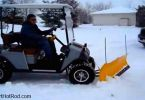 EZGO golf cart snow plow
