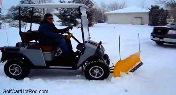 30    club car golf cart snow plow