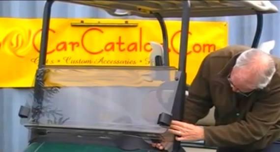 Install EZGO RXV Golf Cart Folding Windshield Video