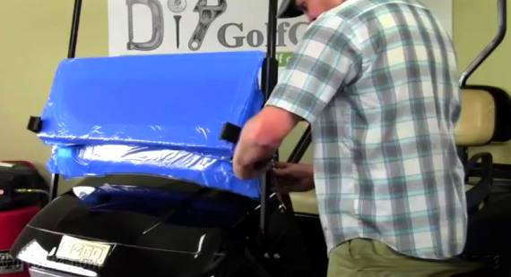 Install EZGO golf cart Folding Windshield