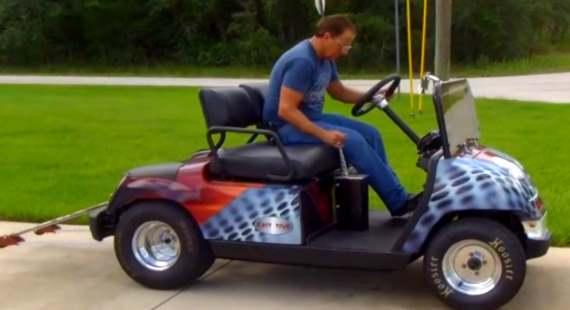 Yamaha Golf Cart With Suzuki Hayabusa Engine