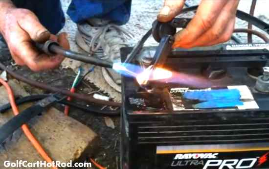 fix repair golf cart battery