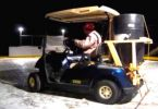 golf cart Zamboni on Ice Rink
