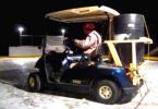 golf cart Zamboni on Ice Rink