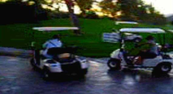 golf cart drifting