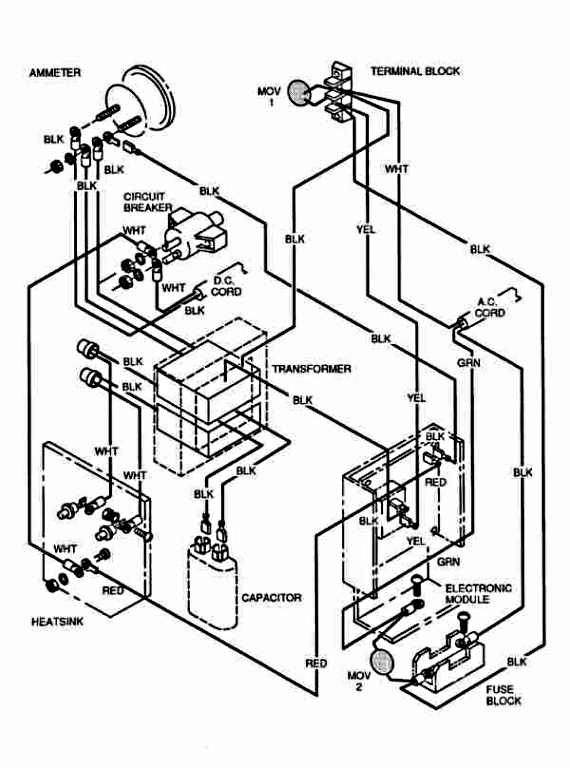 ezgo total charge iii 3 wiring diagram image for 1991 2001 EZ Go Solenoid Wiring Diagram EZ Go Electric Golf Cart Wiring Diagram