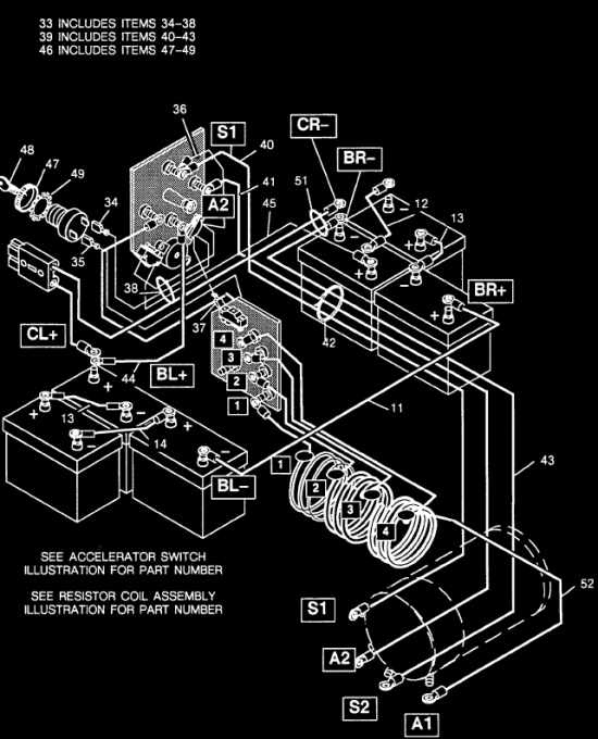 Wiring Diagram 1983-93 EZGO Resistor Cart