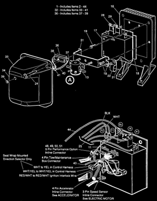 Ezgo golf cart wiring diagram wiring diagram for ez go 36volt 1989 Ezgo Golf Cart Wiring Diagram EZ Go Series Wiring Diagram 95 Ezgo Battery Wiring Diagram