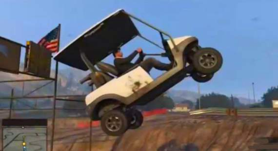golf cart jump crash