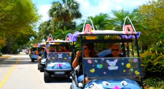 Easter golf cart parade 2014