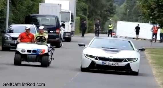 Golf Cart Race BMW i8