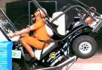 Club Car golf cart crash test