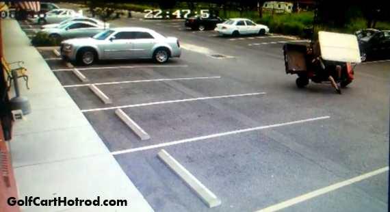 Golf Cart j turn crash fail