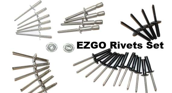complete list of all ezgo rivets used when doing a golf