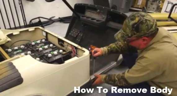 Remove EZGO body panels