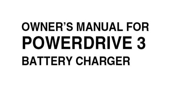Club Car Powerdrive 3 Owners Manual