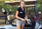 Cute golf cart girls