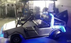 Delorean Golf Cart with video