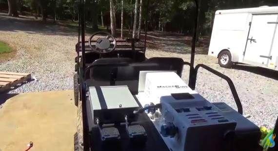 Golf Cart As A Mobile Portable Power Plant