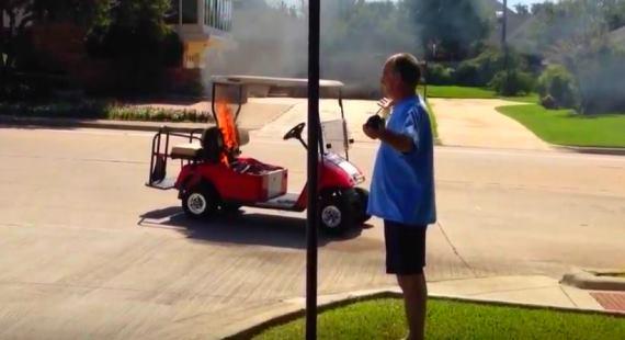 Golf Cart Fire