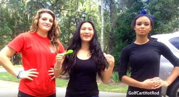 Cute Golf Cart Girls