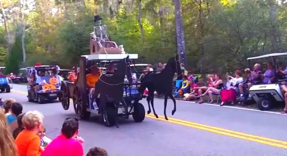 golf cart parade video halloween 2015 from disney fort wilderness campground