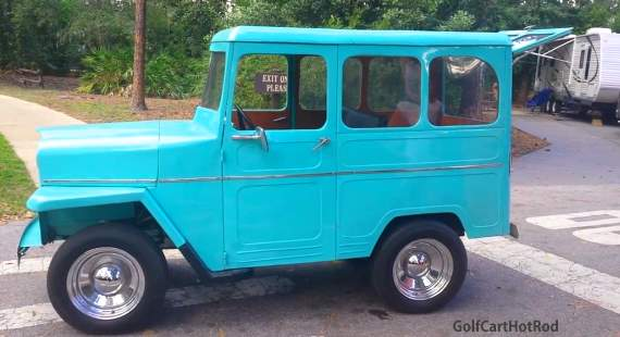 Willys wagon golf cart custom