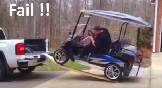 Never use boards to load your golf cart into a truck video on golf players, golf tools, golf games, golf words, golf buggy, golf trolley, golf cartoons, golf card, golf girls, golf handicap, golf machine, golf hitting nets, golf accessories,