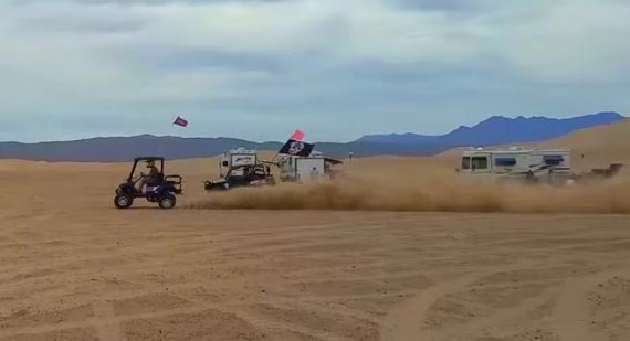 Golf Cart Race sand