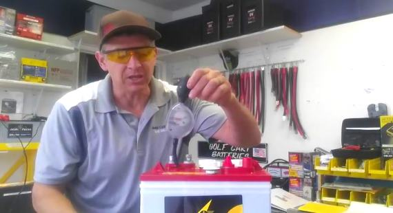 Check Golf Cart Battery Specific Gravity With Hydrometer