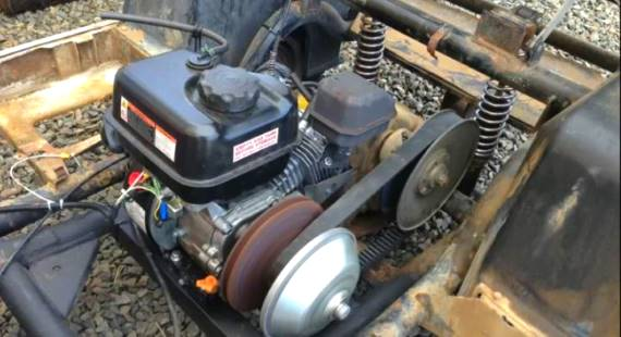 Predator 6.5hp Pull Start Motor In Golf Cart install harbor freight predator 6 5hp motor upgrade golf cart