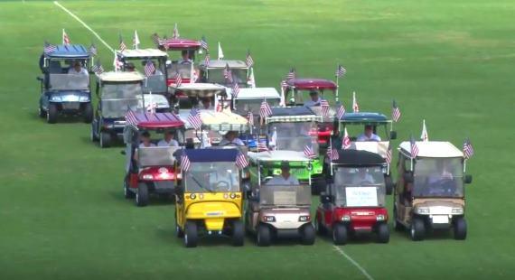 Villages Golf Cart Drill Team 2016