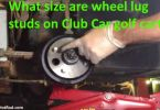Club Car golf cart wheel studs