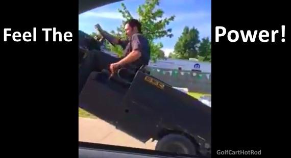 Golf Cart Wheelie Drag Race