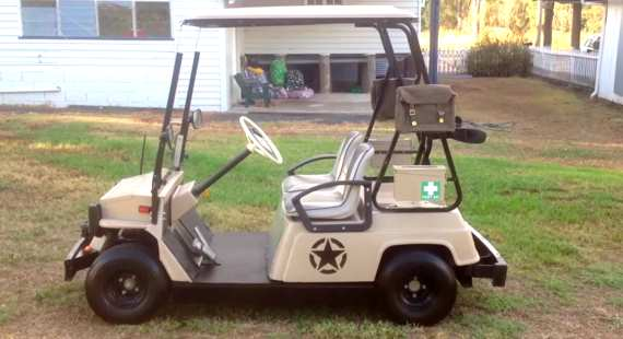 Yamaha G1 Golf Cart Custom Conversion