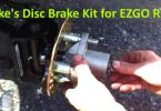 install Jake's Brake Disc Kit for EZGO RXV