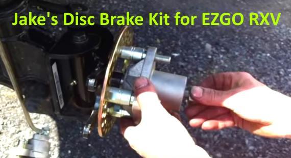 install Jake's Brake Disc Kit for EZGO RXV