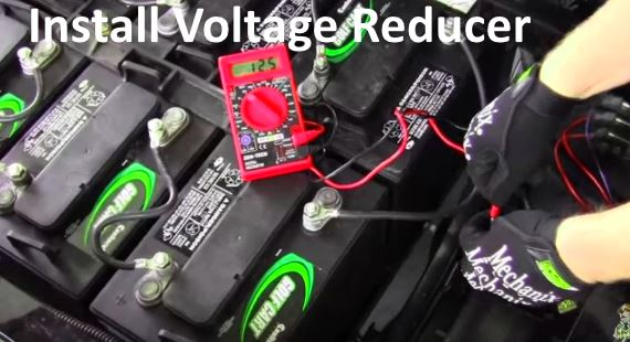 How To Install 36 Or 48 Volt Voltage Reducer For Lights Or Radio