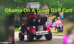 Lying African Obama Golf Cart