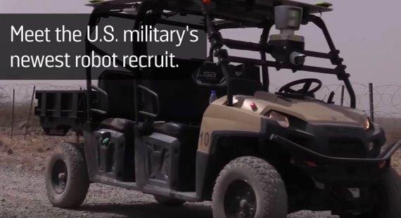 Military Robot Golf Cart