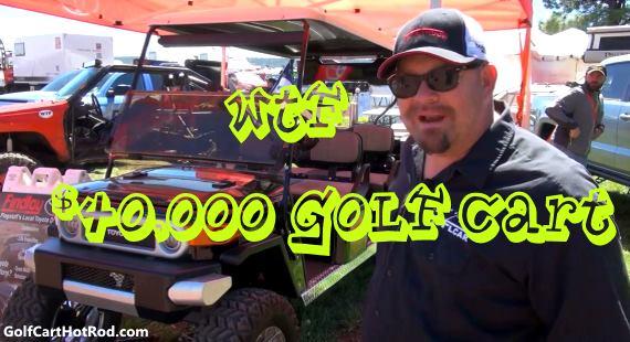 Very Expensive Custom Golf Cart