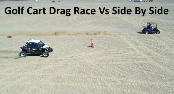 GSX-R750 Powered Golf Cart Races Polaris RZR XP Turbo