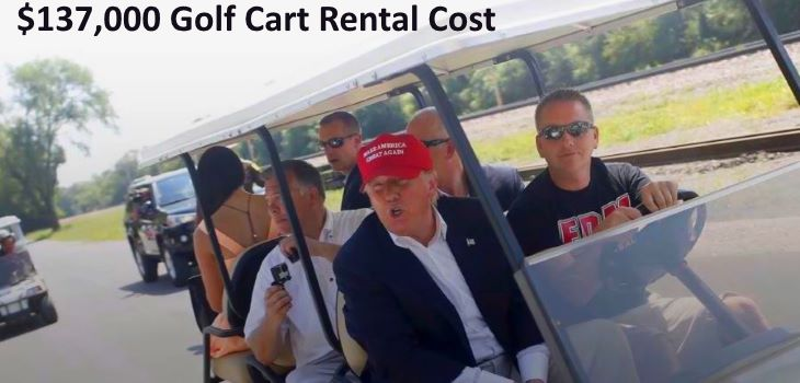 Donald Trump Golf Cart