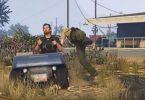 Golf cart Crashes into policeman video
