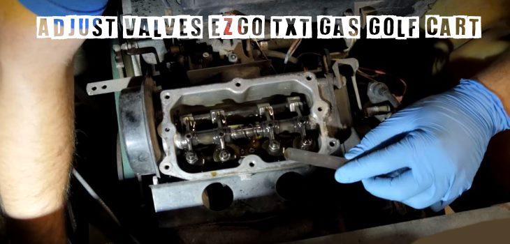 How To Adjust Valves EZGO TXT Gas Golf Cart Video