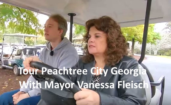 Peachtree City Georgia Mayor Vanessa Fleisch Golf Cart