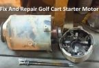Golf Cart starter motor repair fix