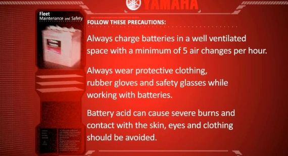 yamaha golf cart battery maintenance